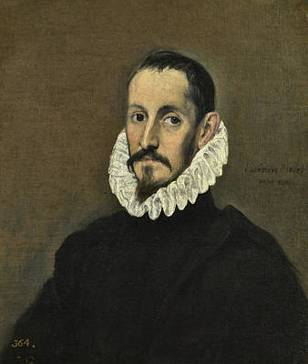 Men Painting - Portrait Of A Gentleman by El Greco