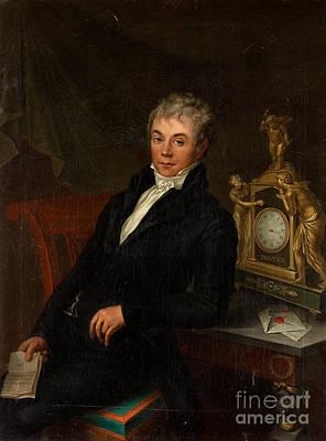 Portrait Of A Gentleman Print by Johan Gustaf