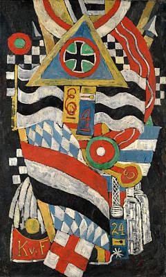 Marsden Hartley Painting - Portrait Of A German Officer by Marsden Hartley