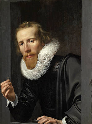 Painting - Portrait Of A Goldsmith Probably Bartholomeus Jansz Van Assendelft by Werner van den Valckert