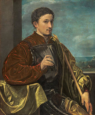 Giovanni Gerolamo Savoldo Painting - Portrait Of A Knight by Giovanni Gerolamo Savoldo