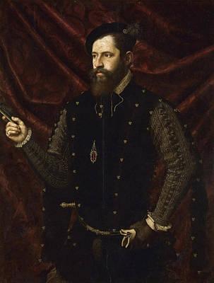 Portrait Of A Knight Of The Order Of Santiago Print by Juan de Juanes