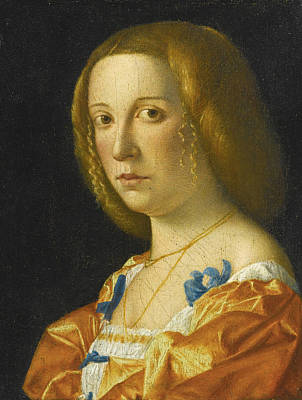 Giovanni Francesco Caroto Painting - Portrait Of A Lady by Giovanni Francesco Caroto