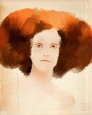 Royalty Digital Art - Portrait Of A Lady by H James Hoff