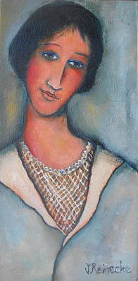 Jana Painting - Portrait Of A Lady by Jana Reinecke
