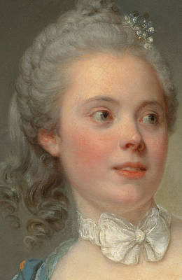 Grils Painting - Portrait Of A Lady by Jean Baptiste Greuze