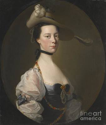 Portraits Painting - Portrait Of A Lady by Joseph Wright