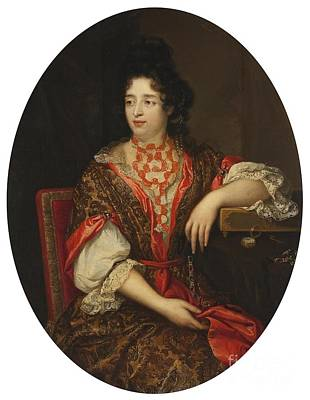 Lady Painting - Portrait Of A Lady Of The Court by Celestial Images