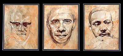 Obama Portrait Painting - Portrait Of A Legend by David  German