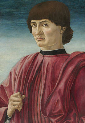 Half Man Painting - Portrait Of A Man by Andrea del Castagno
