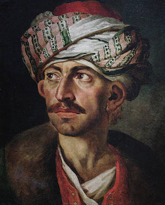 Male Painting - Portrait Of A Oriental Man by Theodore Gericault