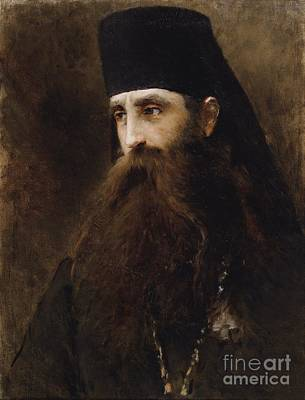 Portrait Painting - Portrait Of A Priest by Konstantin Egorovich