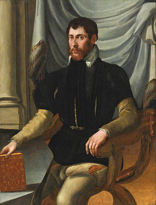 Painting - Portrait Of A Seated Man Holding A Book by Mirabello Cavalori