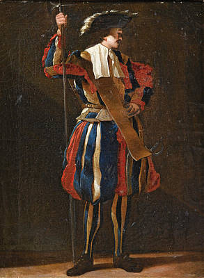 Painting - Portrait Of A Swiss Guard by Jean Barbault