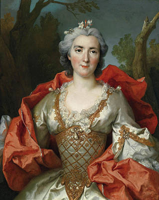 Largilliere Painting - Portrait Of A Woman by Nicolas de Largilliere