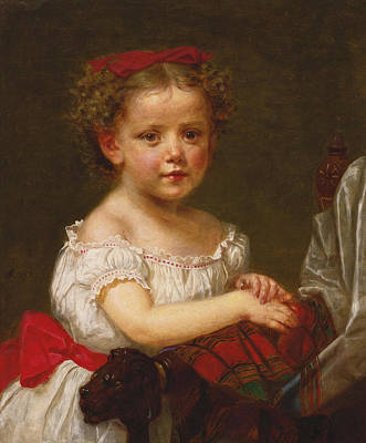 Painting - Portrait Of A Young Girl by Joseph Oriel Eaton