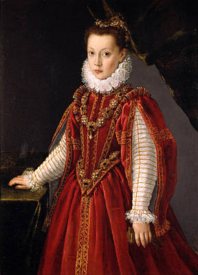 Sofonisba Anguissola Painting - Portrait Of A Young Lady by Sofonisba Anguissola