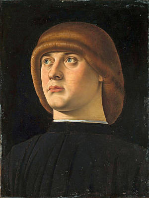 Painting - Portrait Of A Young Man by Jacometto Veneziano