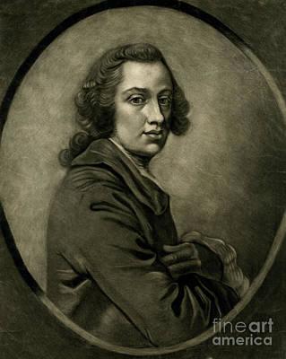 Portrait Painting - Portrait Of A Young Man Mezzotint by MotionAge Designs