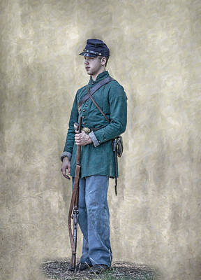 Portrait Of A Young Soldier Of Berdan's Sharpshooters Print by Randy Steele