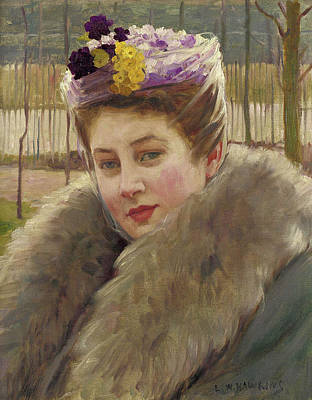 Louis Welden Hawkins Painting - Portrait Of A Young Woman by Louis Welden Hawkins
