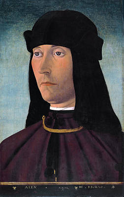 Filippo Mazzola Painting - Portrait Of Alessandro De Richao by Filippo Mazzola