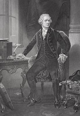 Portrait Of Alexander Hamilton Print by Alonzo Chappel