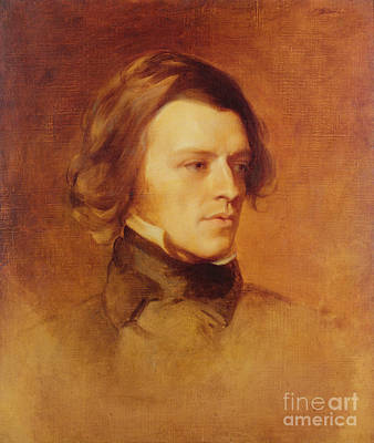 Romanticist Painting - Portrait Of Alfred Lord Tennyson by Samuel Laurence