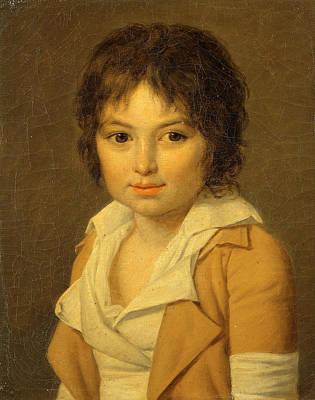 Jean-louis Laneuville Painting - Portrait Of Amedee Selim De Robillard Peronville by Jean-Louis Laneuville