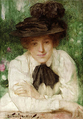 Painting - Portrait Of An Edwardian Lady by Arthur Hacker