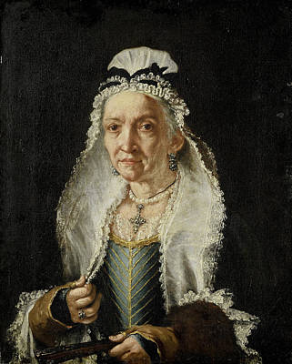 Painting - Portrait Of An Old Lady by Circle of Fra Galgario