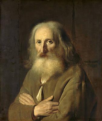 Simon Kick Painting - Portrait Of An Old Man by Simon Kick