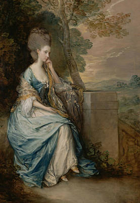 Portrait Of Anne Countess Of Chesterfield Print by Thomas Gainsborough