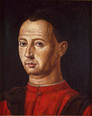 Painting - Portrait Of Bartolomeo Cepolla by Jacometto Veneziano