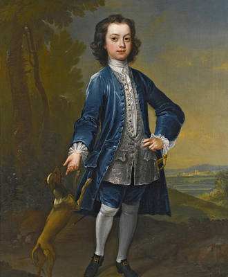 Painting - Portrait Of Benjamin Hatley Foote Aged Twelve by Charles Jervas