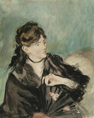 Choker Painting - Portrait Of Berthe Morisot by Edouard Manet