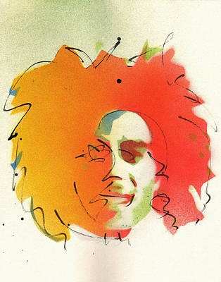 Bob Marley Abstract Painting - Portrait Of Bob Marley by Ryan  Hopkins