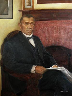 Portrait Of Booker T. Washington Print by Sylvia Castellanos