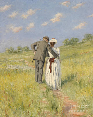 Field Painting - Portrait Of Captain William Holmes And Mary Shafter Mckitterick by American School