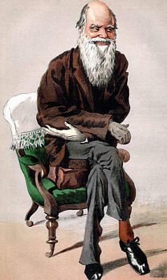 Portrait Of Charles Darwin Print by James Jacques Joseph Tissot