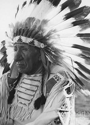 Portrait Of Chief Red Cloud Print by Stocktrek Images