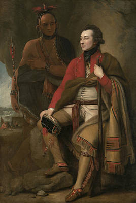 Portrait Of Colonel Guy Johnson Print by Benjamin West