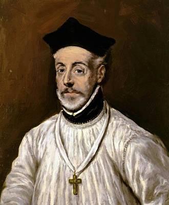 Mannerism Painting - Portrait Of Diego De Covarrubias by El Greco