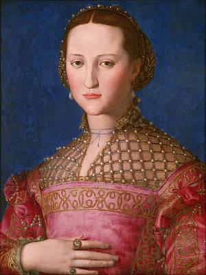 Eleonora Painting - Portrait Of Eleonora Of Toledo  by Agnolo Bronzino