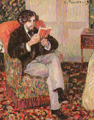 Window Signs Painting - Portrait Of Felix by Camille Pissarro