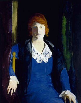 Portrait Of Florence Pierce Print by George Bellows