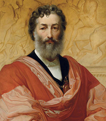 Portrait Of Frederic Leighton Print by Paolo Fossi