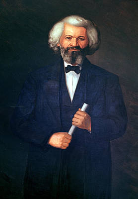 Portrait Of Frederick Douglass Print by American School