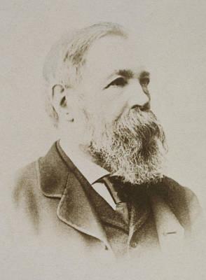 Lapel Photograph - Portrait Of Friedrich Engels by Karl Pinkau