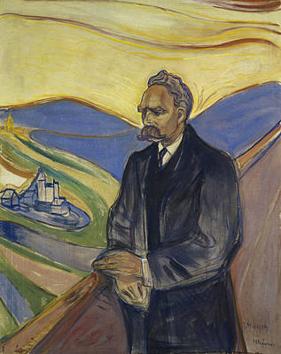 Portrait Of Friedrich Nietzsche Print by Mountain Dreams